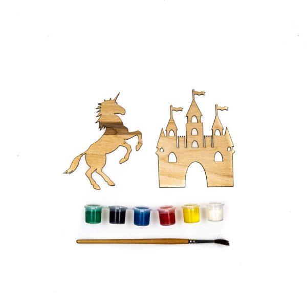 drewniane elementy zabaw z baśniowej paki