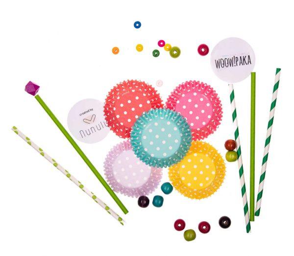 papierowe elementy zabaw z kolorowej paki